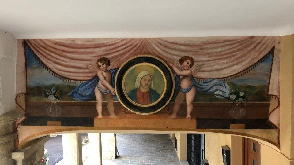 Un dipinto ritrovato: due angeli ottocenteschi nell'antico Mercatale