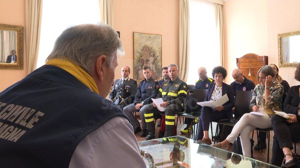 l'intervista ad Alessandra Camporota, Prefetto di Rimini e l'intervento di Fabio Berardi, Capo Protezione Civile San Marino