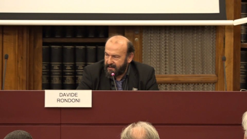 Davide Rondoni in Senato
