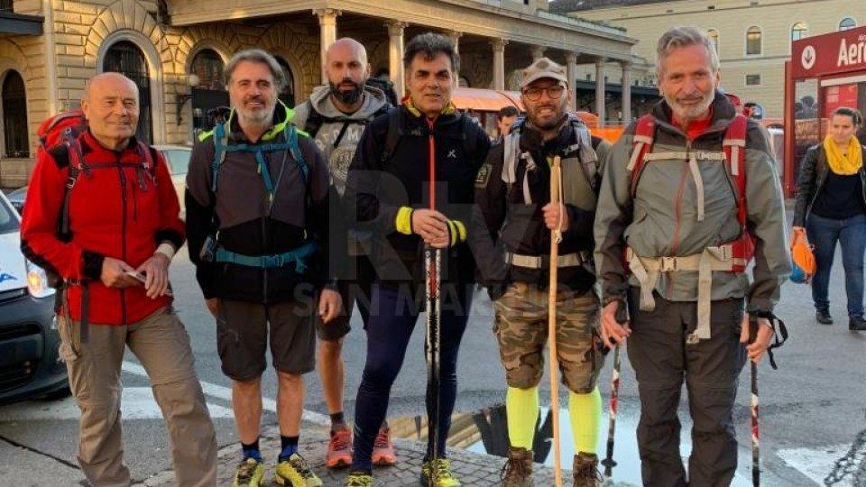 """""""La via degli Dei"""": nuova impresa per i camminatori del Titano"""