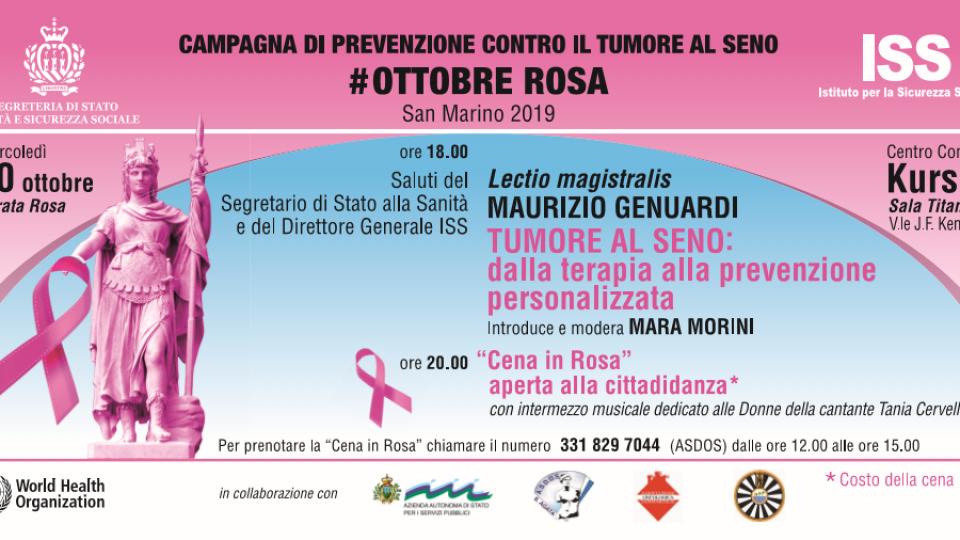 San Marino unito nella lotta al tumore al seno. La campagna #ottobrerosa riceve il sostegno dell'Ecc.ma Reggenza