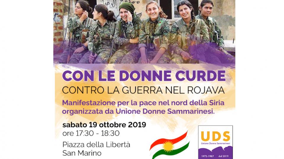 Unione Donne Sammarinesi con le donne curde e contro la guerra nel Rojava