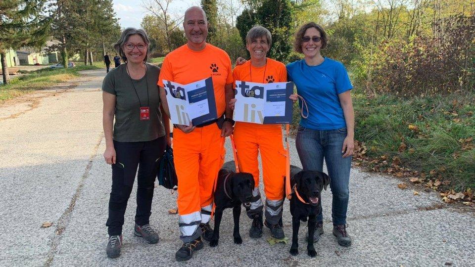 Pompieri Senza Frontiere Unità Cinofile da Soccorso della Repubblica di San Marino: prove di riconferma dei brevetti MRT in Croazia