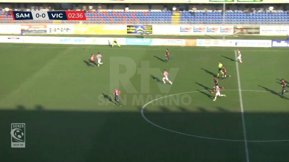 Il Vicenza batte 3-0 la Sambenedettese e sale in vetta