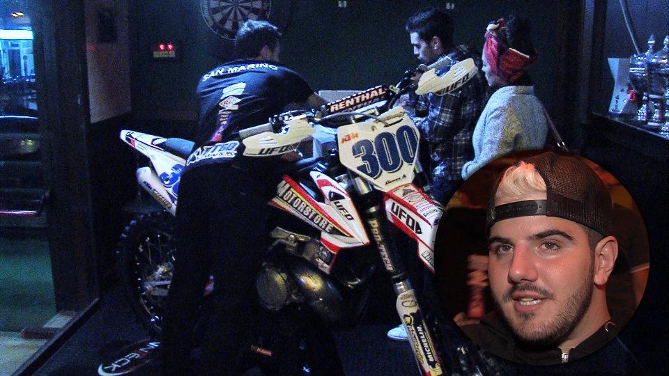 Bryan Toccaceli e la moto del Team San Marino