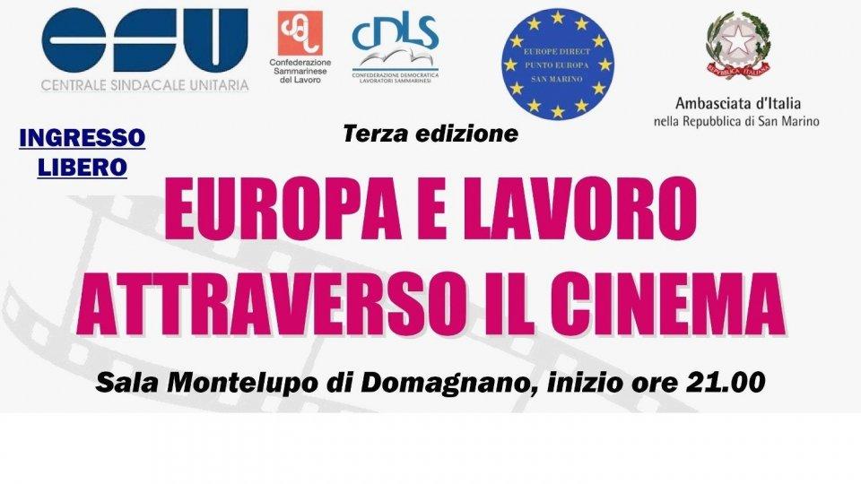 """CSU: Domani inizia il ciclo """"Europa e lavoro attraverso il cinema"""""""