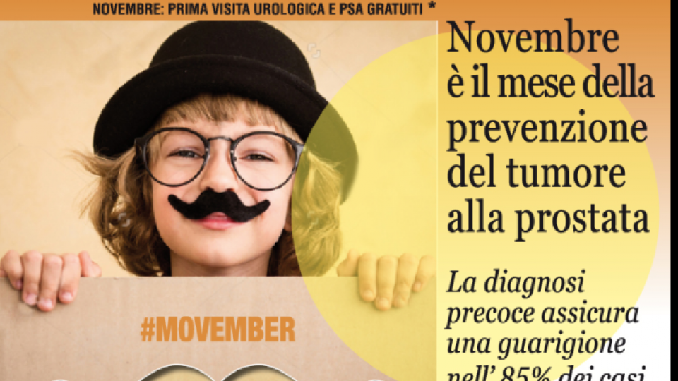 Al via la campagna internazionale #Movember per la prevenzione del tumore alla prostata