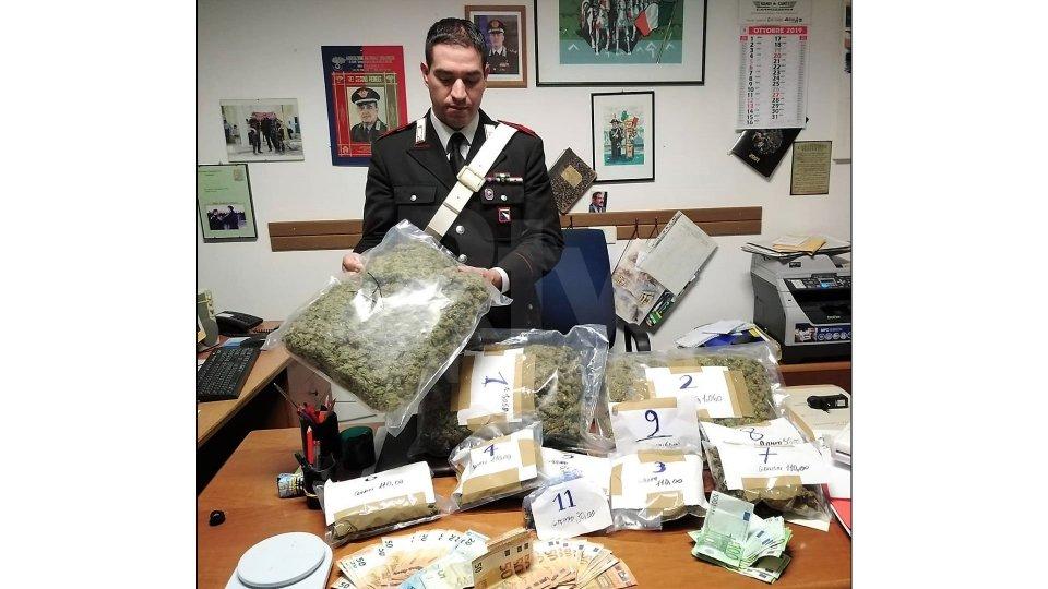 Rimini: sequestrati 4 chili di marijuana, nei guai due riminesi