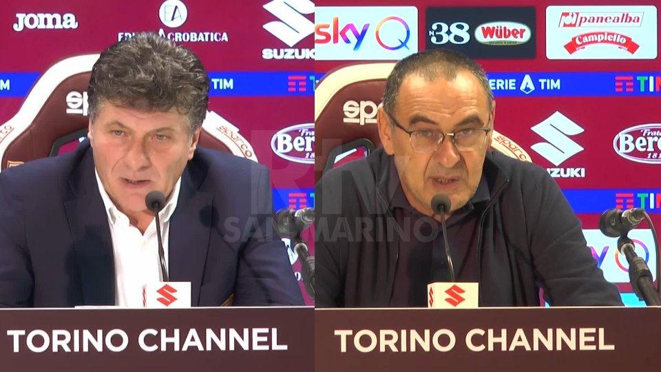 Walter Mazzarri e Maurizio Sarri.Walter Mazzarri e Maurizio Sarri.