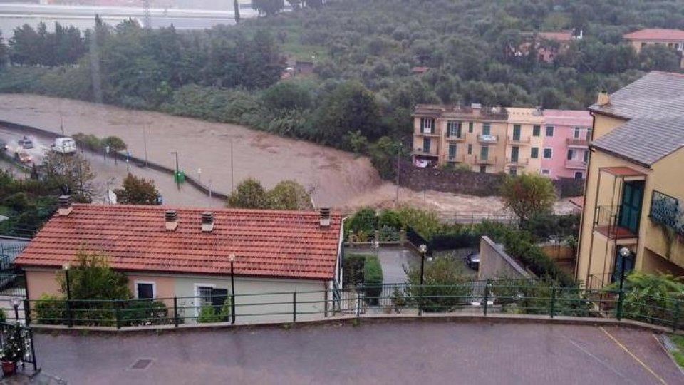 Maltempo in Liguria. Foto Ansa
