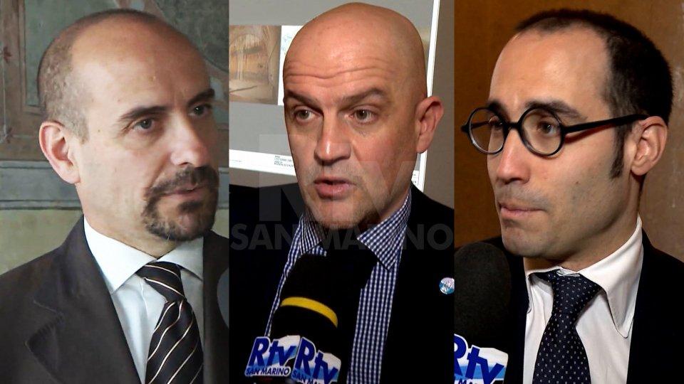 I Segretari Franco Santi, Marco Podeschi e Nicola Renzi