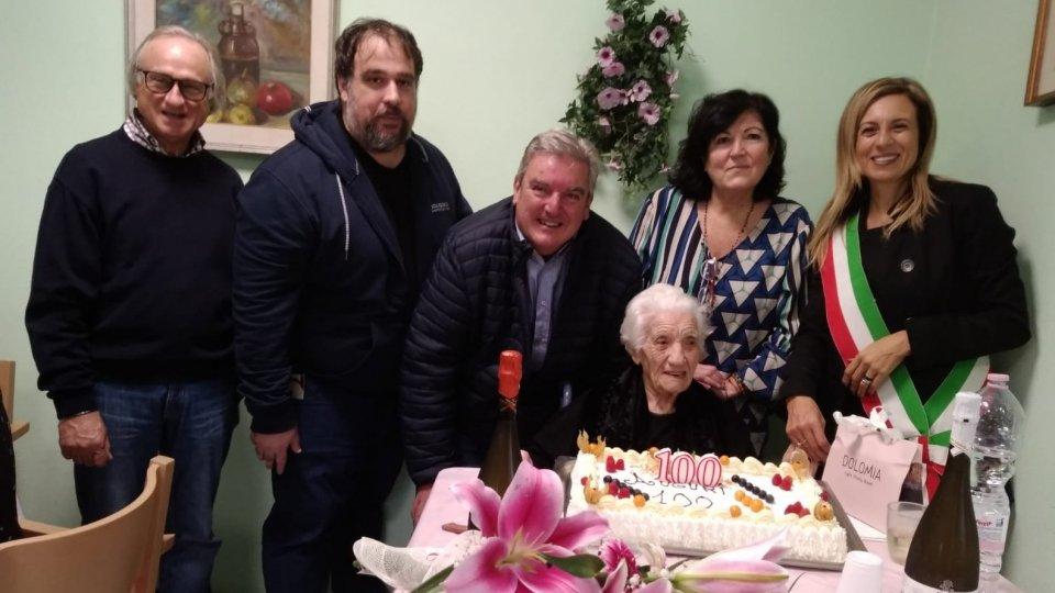 Nonna Bonaria compie 100 e Coriano la festeggia