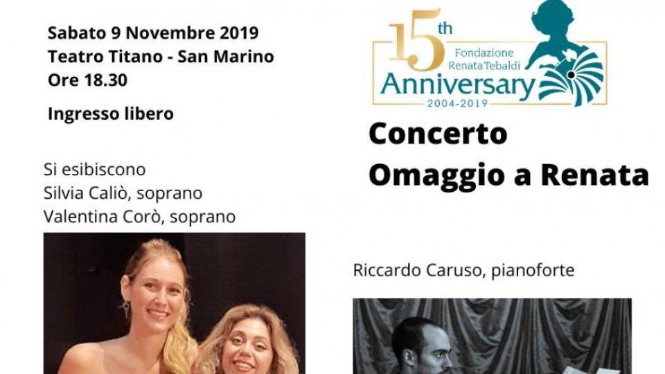 Omaggio a Renata Tebaldi e Tullio Serafin in scena sabato pomeriggio al Teatro Titano