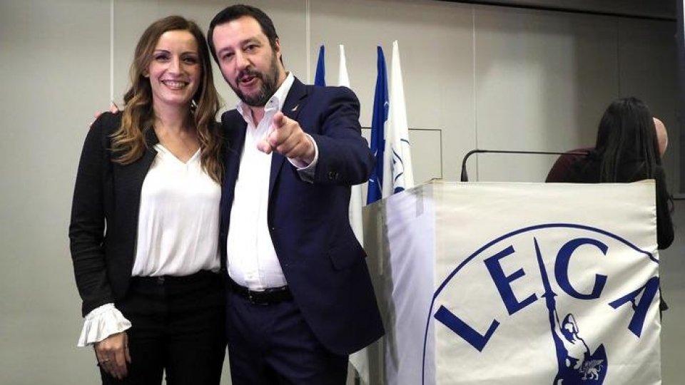Lucia Borgonzoni e Matteo Salvini, foto Ansa