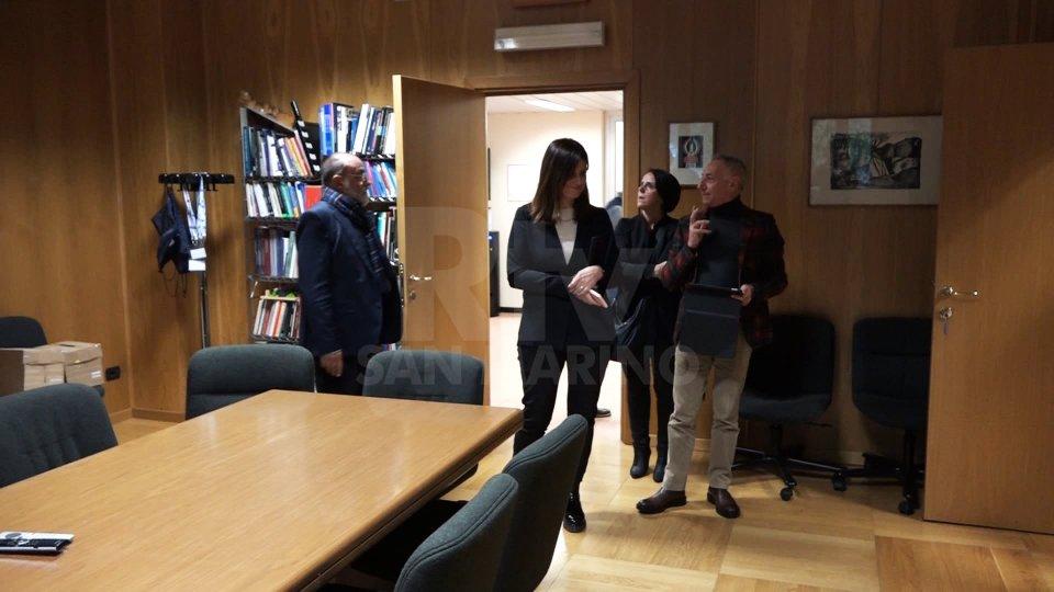 La delegazione di San Marino RTV alla sede Rai di AostaLa visita nella sede Rai di Aosta