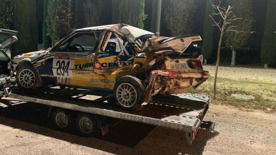 La BMW 318IS incidentata