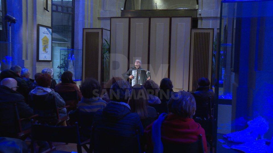 L'esibizione di Sergio Scappini