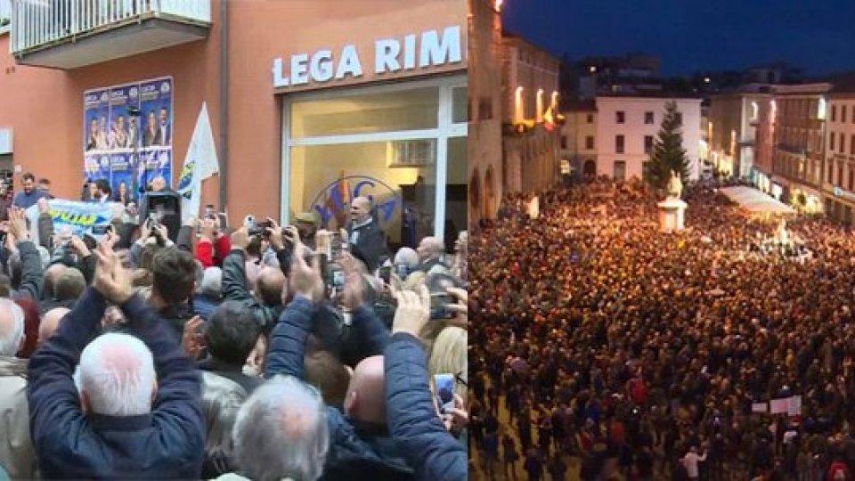 """Salvini e """"Sardine"""": piazze a confronto a Rimini"""