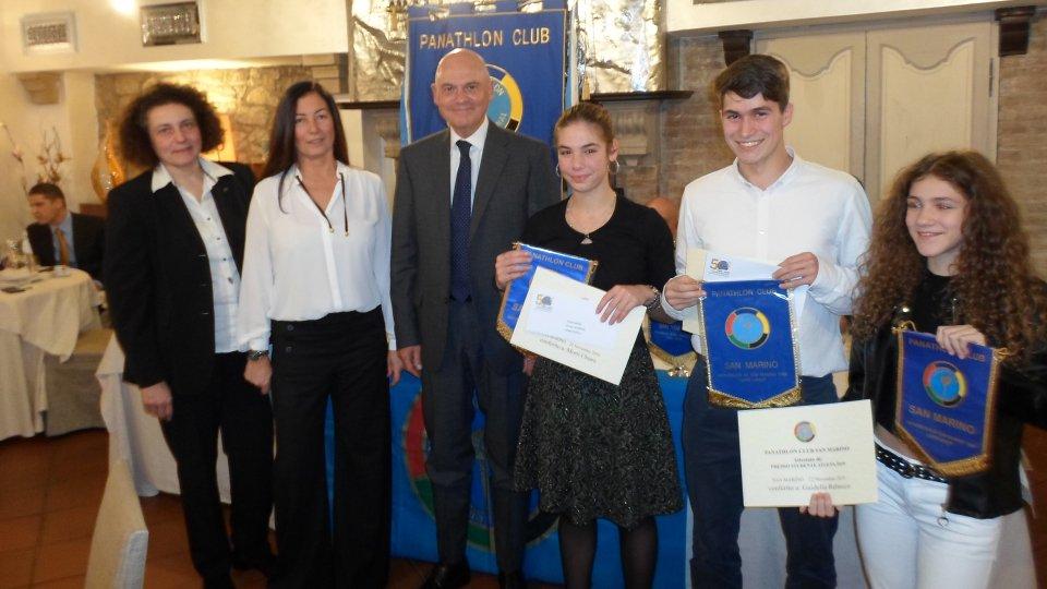 Panathlon Club assegna premi 'studente - atleta'