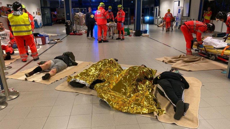 """Maxi esercitazione """"Full Scale"""" del Piano di Emergenza Aeroportuale all'Aeroporto di Rimini"""