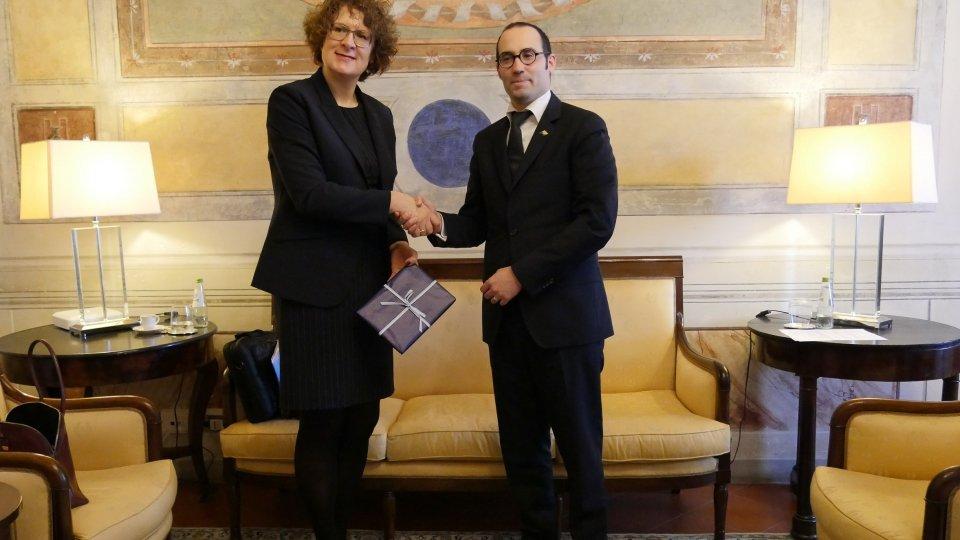 Segreteria Esteri: Il Segretario di Stato Nicola Renzi incontra l'Ambasciatore di Svizzera a San Marino
