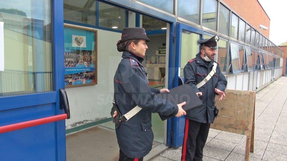L'intervento dei Carabinieri nella scuola elementare