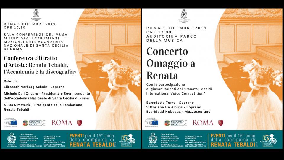 """Fondazione Tebaldi, """"Omaggio a Renata"""" domenica a Roma: l'evento riceve la Medaglia del Presidente della Repubblica conferita da Mattarella oltre al plauso del Parlamento Europeo"""