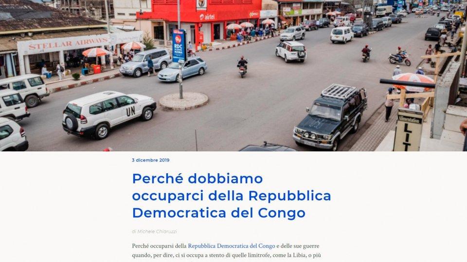 Perché dobbiamo occuparci della Repubblica Democratica del Congo: su Treccani torna Michele Chiaruzzi