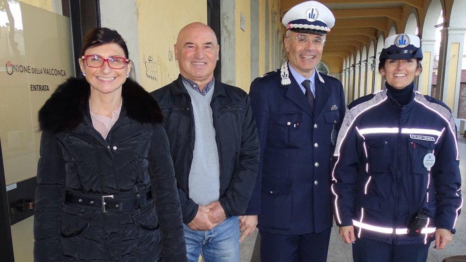 Polizia Locale: Patrizia Rosito nuova agente, Stefano Amadei va in pensione