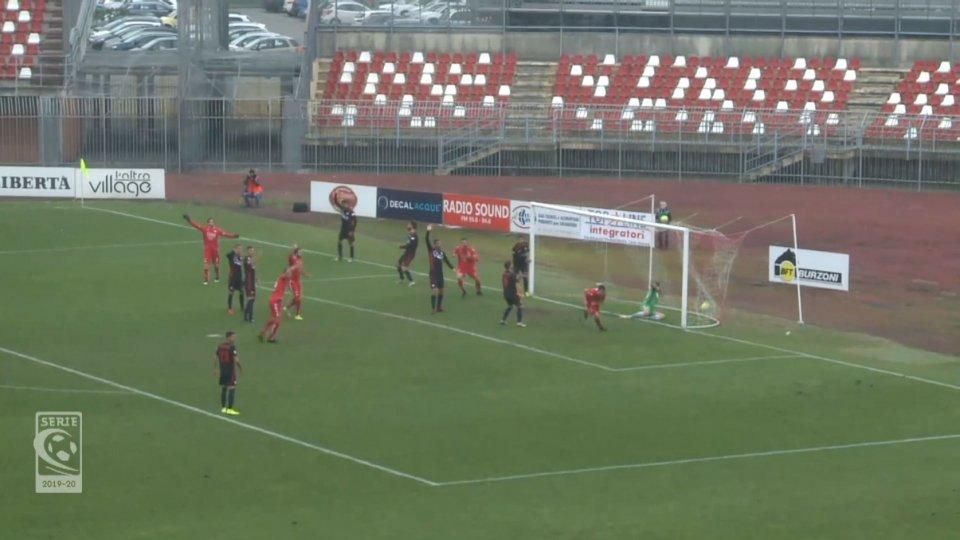 gol del PiacenzaIl Rimini sprofonda a Piacenza
