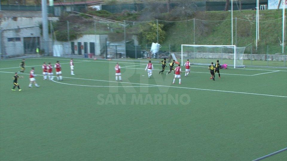 Show tra Pennarossa e Faetano, finisce 3-3