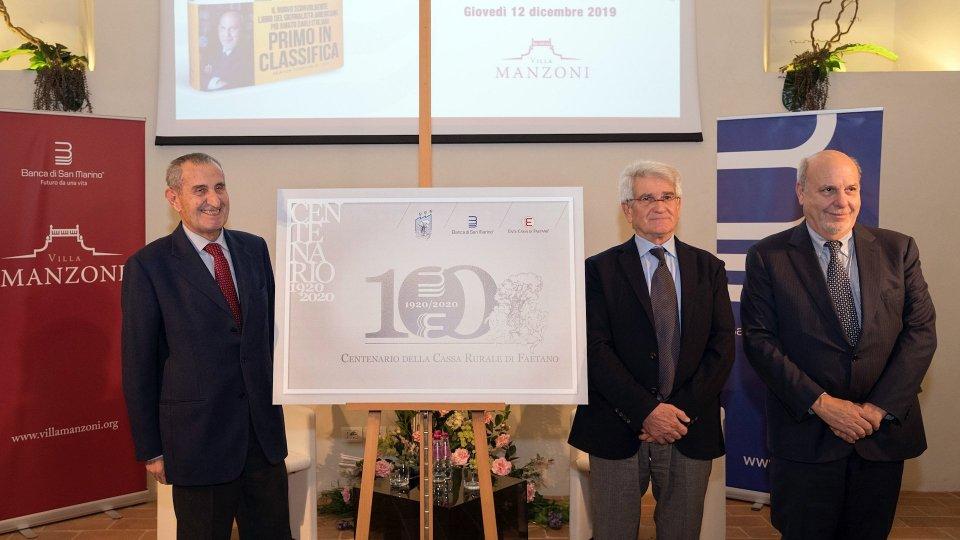 Centenario della Cassa Rurale di Faetano, 1920-2020: Ente Cassa di Faetano e Banca di San Marino avviano il conto alla rovescia e presentano il logo dell'anniversario