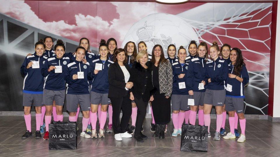 Calcio femminile, Marlù Gioielli scende in campo con San Marino Academy
