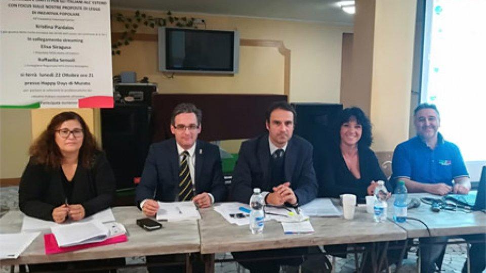 Comites San MarinoConferenza del Comites San Marino con la giurista Pardalos e parlamentari italiani eletti all'estero e in E-R