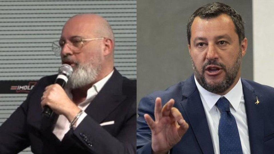 Stefano Bonaccini e Matteo Salvini (Ansa)Le parole di Salvini e Bonaccini
