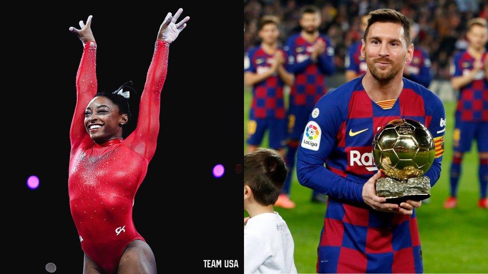 Simone Biles e Leo Messi sono gli atleti del 2019. Liverpool la miglior squadra
