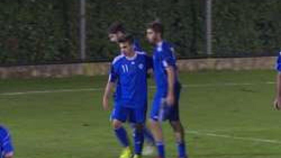 Fabio Ramon Tomassini festeggia il gol