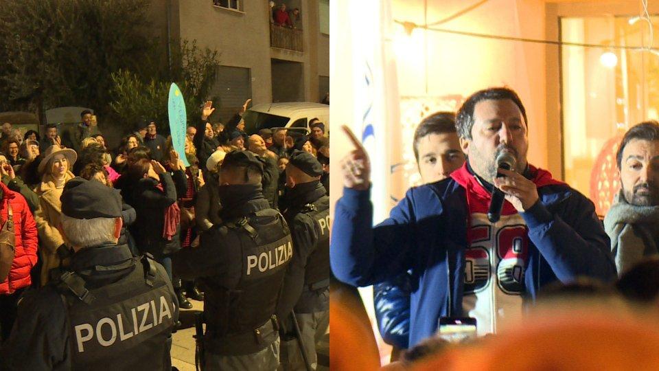 La manifestazione delle sardine e Matteo Salvini