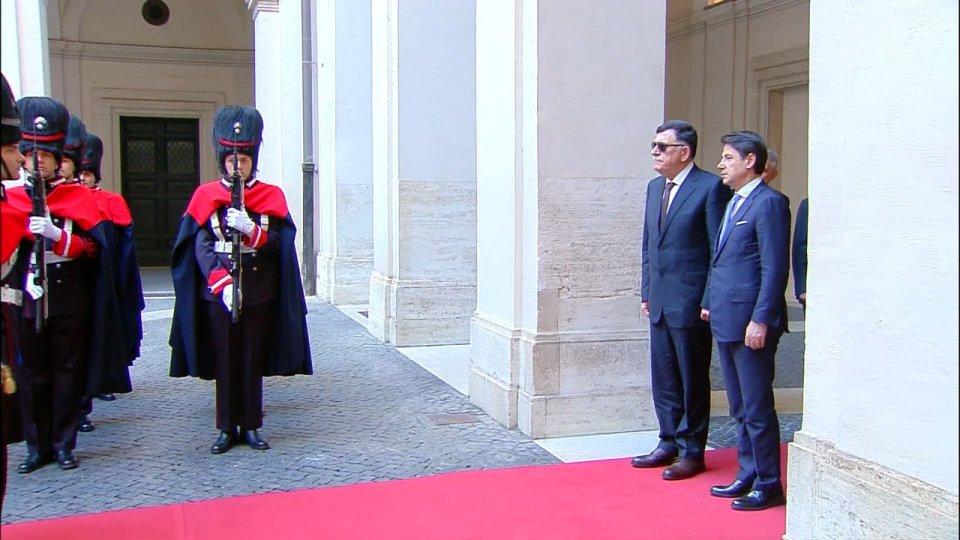 Incontro fra Conte e Al Sarraj