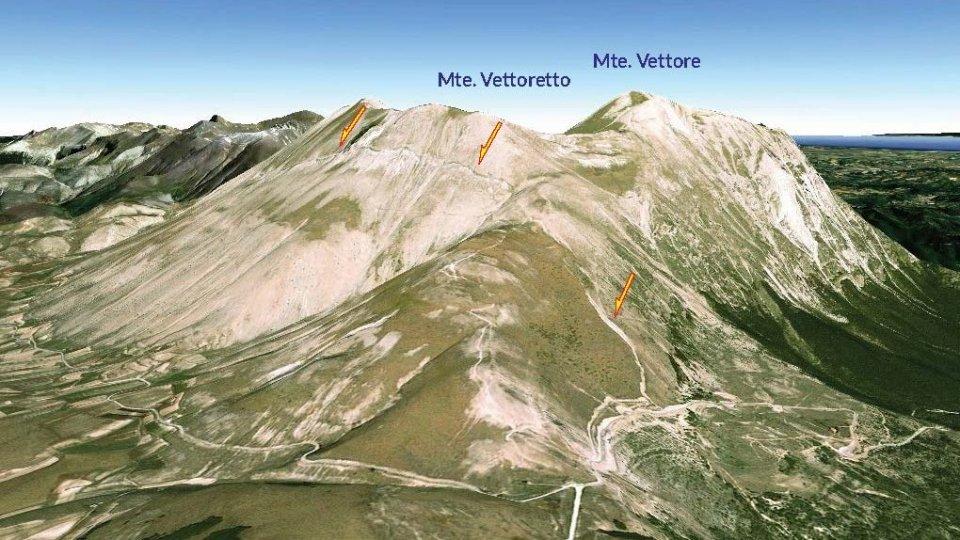 Infortunio sul Monte Vettore per un 55enne di San Marino. Recuperato con l'elicottero
