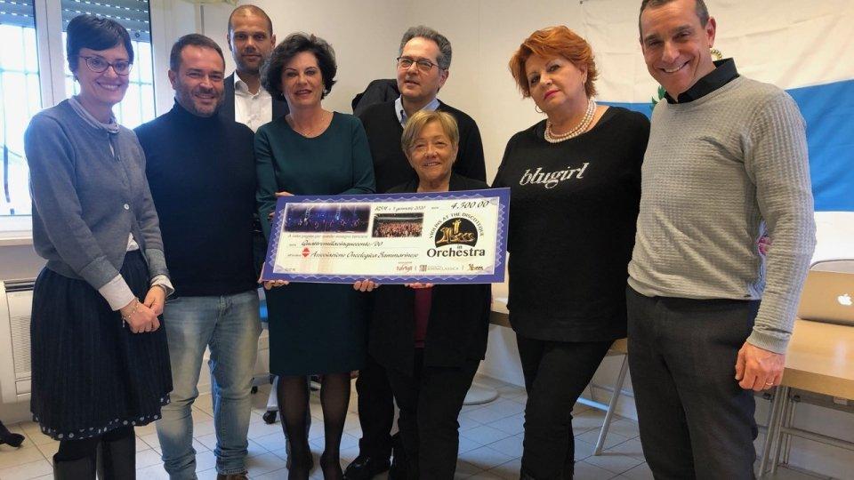 Nel servizio l'intervista a Roberto Moretti (vice presidente Fun4all) e Maria Grazia Angeli (Presidente Associazione Oncologica Sammarinese)