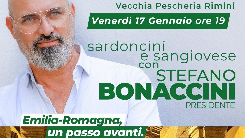 Stefano Bonaccini alla Vecchia Pescheria di Rimini il 17 gennaio