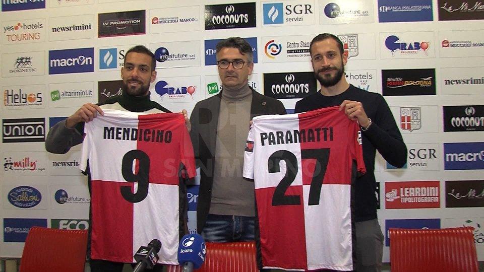 Calcio Mercato: autentica rivoluzione a Rimini. Presentati altri due nuovi acquisti: Mendicino e Paramatti