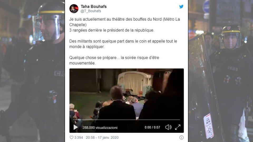 Manifestanti tentano blitz a teatro, all'interno Macron e premier dame