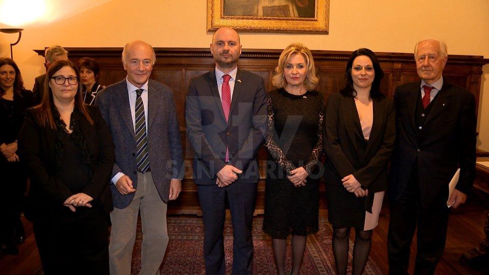 La Reggenza, il Segretario Tonnini e i nuovi membri del Collegio Garante della Costituzionalità delle Norme