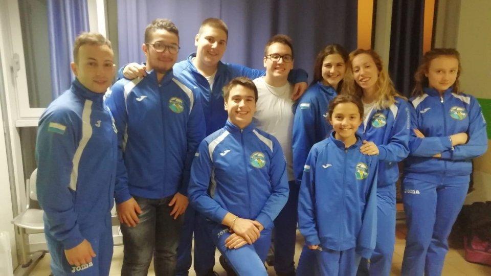 Nuoto pinnato: buono l'esordio per la Domus San Marino a Piacenza