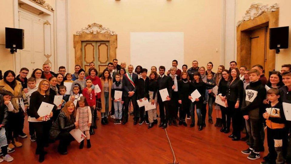 La cerimonia a Pesaro