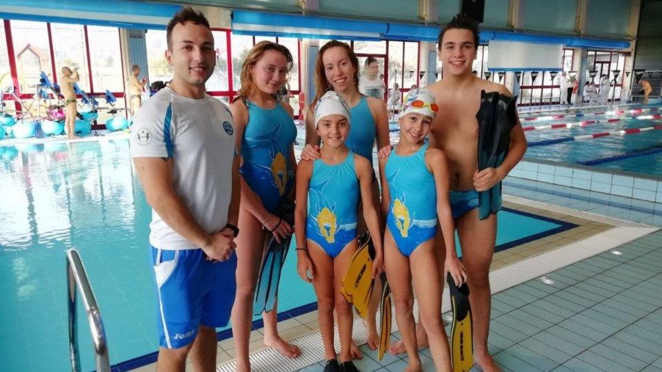 Trasferta positiva a Camaiore per la Domus San Marino Nuoto Pinnato