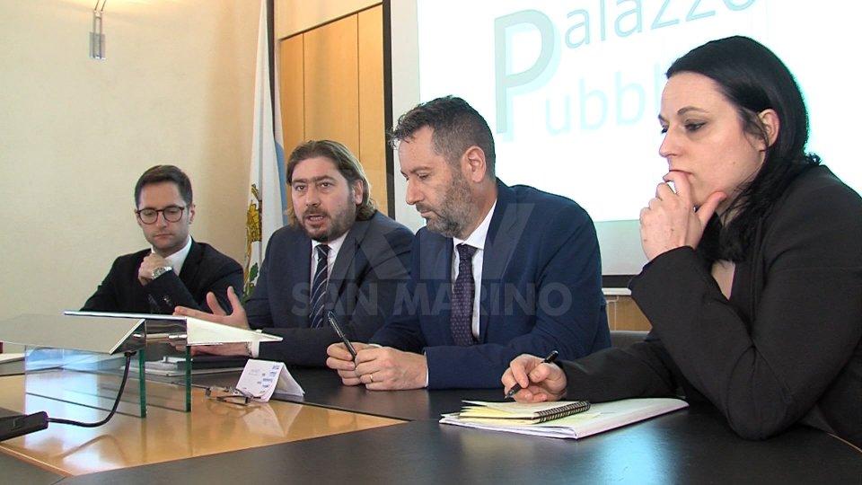 la prima conferenza stampa esecutivoSentiamo Segretario Marco Gatti