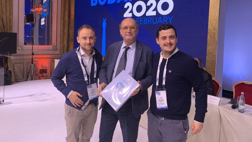Elia Gorini e Luca Pelliccioni con Gianni Merlo